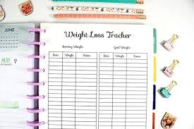 Weight Loss And Inches Tracker Amazon Com Printed Big Happy Planner Weight Loss Tracker Inserts
