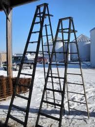 Wooden Ladder Display Stand Vintage Wooden 100 Step Ladder Shelf These Ladders Lean to Make 85