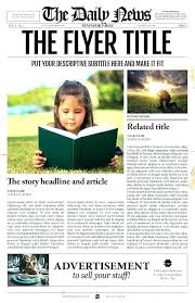 Free Indesign Newspaper Template Digital Newspaper Template