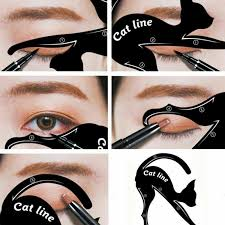 details about 1 pair eyeliner stencil models makeup beauty cat eye line template shaper tools