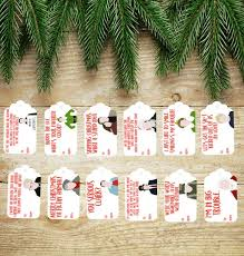 Christmas Tree Quotes Cool Misc CHRISTMAS MOVIE QUOTES Tags Set Of 48 Etsy