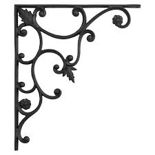 large shelf brackets. Interesting Large Thistle Motif Large Iron Shelf Bracket  Black Powder Coat To Brackets B