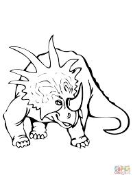 Coloriage Dinosaure Styracosaure Coloriages Imprimer Gratuits