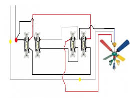 3 way switch wiring diagram multiple lights to ceiling fan light free