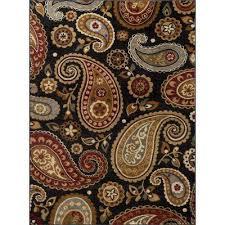 impressions black 5 ft x 7 ft transitional area rug