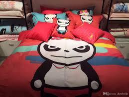 children love cartoon panda bedding sets lovely monkey printed duvet cover set queen size king size children cartoon bed linen cotton duvet covers bedding