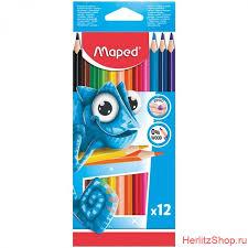<b>Карандаши цветные Maped</b>, 12 цв., трёхгранные