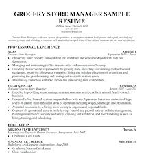Grocery Store Manager Resume Template Best Of Grocery Store Resume Sample Fastlunchrockco