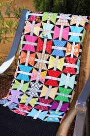 Quilt Inspiration: Quilt Inspiration: Butterfly quilts (and free ... & This dynamic quilt really caught our eye. The bright colors look great  against the black background, and we love the use of typography prints. Adamdwight.com