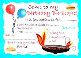 Barbeque Invitation Free Graduation Invitation Templates Bbq Party