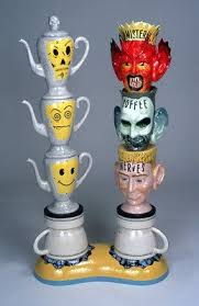 One campaign featured an evil villain named mr. Suu S Art Insights To Feature Sculptor Mark Burns Cedar City Utah Crafting Unique Variations On Coffee Ceramic Artists Contemporary Ceramics Ceramic Art