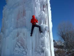45 foot ice climbing wall now open in midway