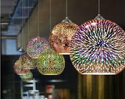 murano crystal pendant light colorful