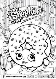 Shopkins Coloring Pages Season 1 Dlish Donut Shays Shopkin Bday