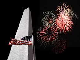 Collage Of The Washington Monument American Flag And Fireworks Photographic Print By Diane Miller Art Com