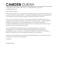cover letter for food service 10 food service manager cover letter proposal sample