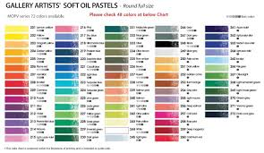 Mungyo Gallery Soft Oil Pastels Set Of 48 Assorted Colors Professional