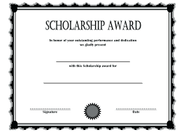Scholarship Certificate Template For Word Scholarship Award Certificate Templates Word Certificates