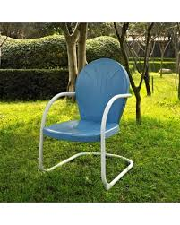 white metal patio chairs. Outdoor Crosley Griffith Metal Patio Chair White Chairs