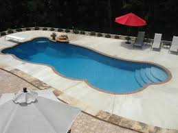 ... Elegant Exterior Decoration In Swimming Pool With Diving Boards Design  : Attractive Red Fabric Sun Cover ...