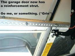garage door reinforcement strut cool garage door struts idea doors how to install foot for reinforcement garage door reinforcement