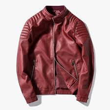 2019 very good quality red blue fashion casual leather jackets men 2018 autumn winter men leather jacket coat motorcycle coat from sandlucy