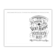 Free printable coloring pages for father's day offer cute messages for dad or grandfather. Vintage Typography Father S Day Card The Postman S Knock