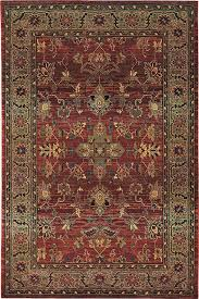 oriental weavers kharma ii 890x4 red green area rug enlarged view