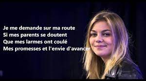 Louane - Je vole (Michel Sardou) - Lyric - YouTube