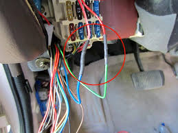 diy gen3 keyless entry alarm installation many pics toyota here are the two wires i ran from the drivers side left to the passengers note to run the wires i removed the stereo which gave me a path for my wires