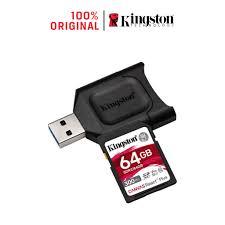 Thẻ Nhớ SD Kingston Canvas React Plus V90 300mbs/260mbs UHS II 64GB camera  quay phim chuyên nghiệp 4K/8K 64GB MLPR2/64GB giá cạnh tranh