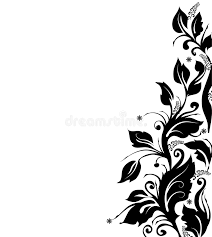 Border Black And White Black And White Floral Border Stock Illustration Illustration Of