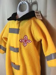 Details About Old Navy Fireman Costume Yellow Black Fleece Boy 6 12 Months Halloween Nwt