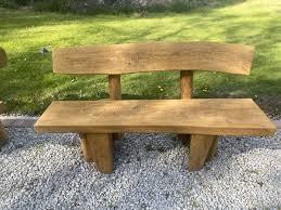 solid oak garden bench for garden