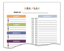 Free Printable Meal Plan Template The 15 Best Free Paid Meal Planning Templates Financial