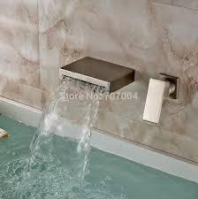 wall mounted waterfall spout single