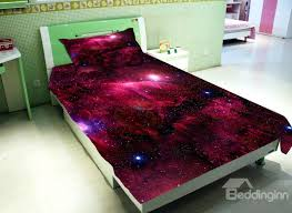 amazing bright red galaxy print 4 piece duvet cover sets