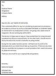 The Above Are Some Standard Formal Resignation Letter Samples, Which ...
