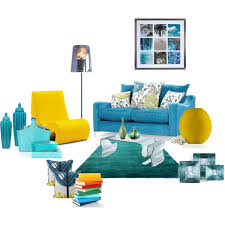a home decor collage from february 2011 featuring fabric sofas vitra and modern furniture blue yellow living room