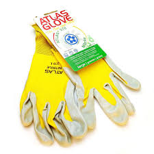 yellow atlas touch screen compatable garden gloves gloves by