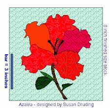 free applique flower quilt block pattern - Azalea to Appliqué & azalea flower quilt block to applique Adamdwight.com
