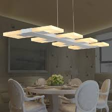 16 led dining room light fixtures modern led droplights square long pendant lights fixture home indoor