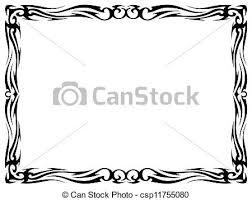 simple frame tattoo. Delighful Simple Simple Black Tattoo Ornamental Decorative Frame  Csp11755080 To Simple Frame Tattoo