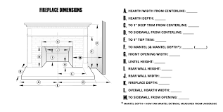 use our conveniently provided fireplace dimension sheet