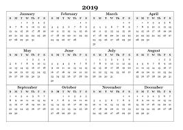 free calendar printable 2019 one year calendar 2019 printable creativeinfotech info