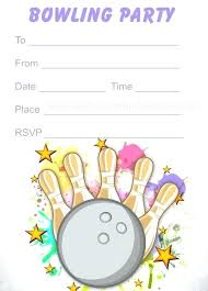 printable kid birthday cards free bowling birthday invitations bowling party invitations free