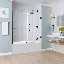 belmore gs 59 25 in to 60 25 in x 60 in frameless hinged tub