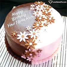 Beautiful Happy Birthday Cake And Wishes Inspiring With Name Edit