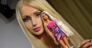 dolls makeup in barbie style the of