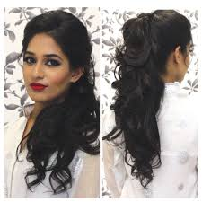 Hairstyle For Long Hair For Wedding Tutorial Indian Party